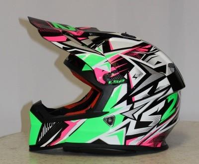 LS2 MX 437 STRONG Weiß / Grün / Pink S