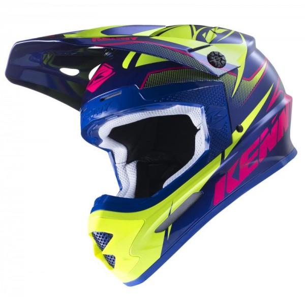 TRACK Helm Erwachsene Dunkelblau Pink Limettengrün