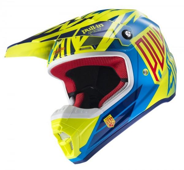 Erwachsene Helm Neongelb Cyan