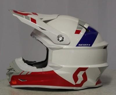 Scott 350 Pro Race Weiß Rot Blau XL