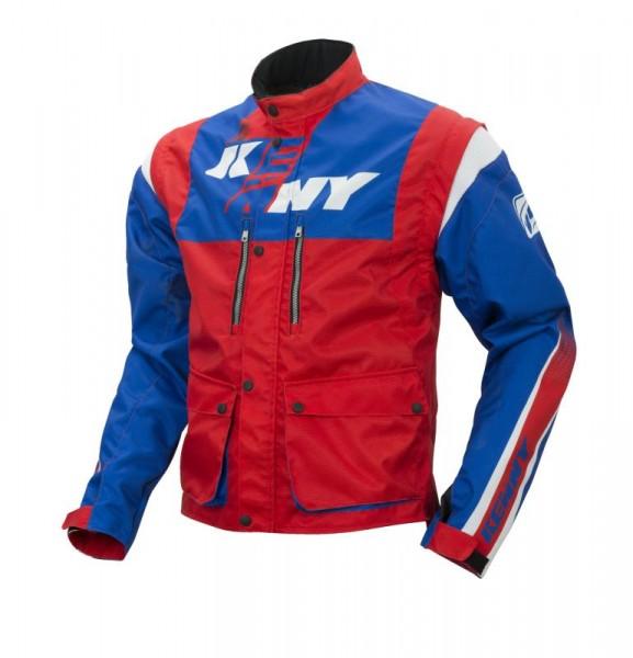 TRACK Jacke Blau Rot