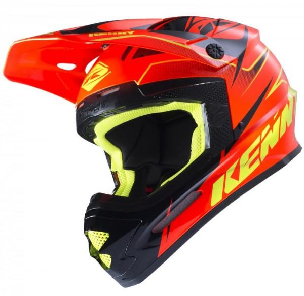 TRACK Helm Erwachsene Neonorange