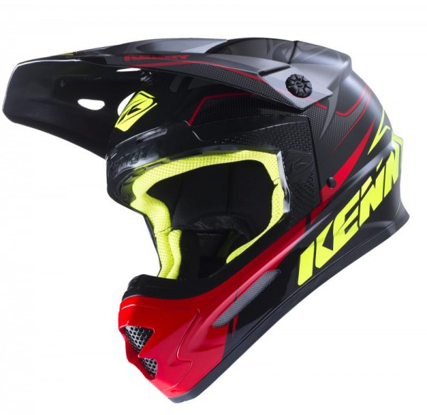 TRACK Helm Erwachsene Schwarz Grau Rot