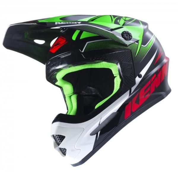 TRACK Helm Erwachsene Grün Schwarz Rot