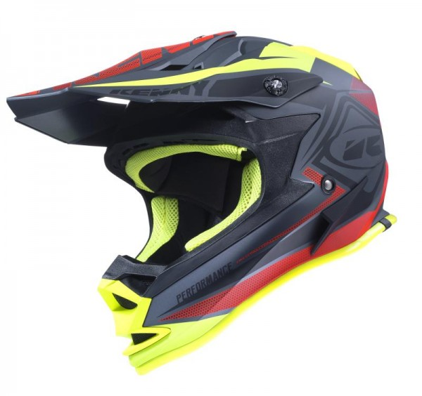 PERFORMANCE Helm Kinder Schwarz Rot Gelb
