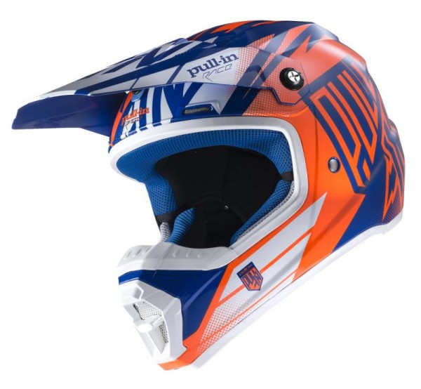Erwachsene Helm Blau Neonorange