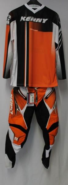 Kenny Performance Combo orange schwarz weiß S / 28