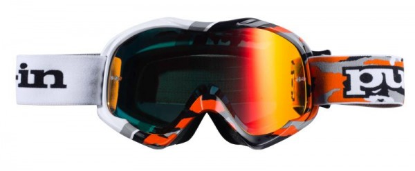 FIGHTER Brille Schwarz Orange Camouflage