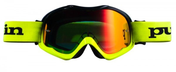 FIGHTER Brille Schwarz Neongelb