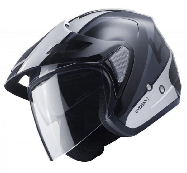 EVASION Helm Erwachsene Schwarz Silber