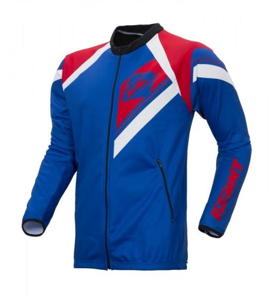 ENDURO Reißverschluss Sport-Jacke Blau Rot