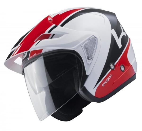 EVASION Helm Erwachsene Weiß Rot