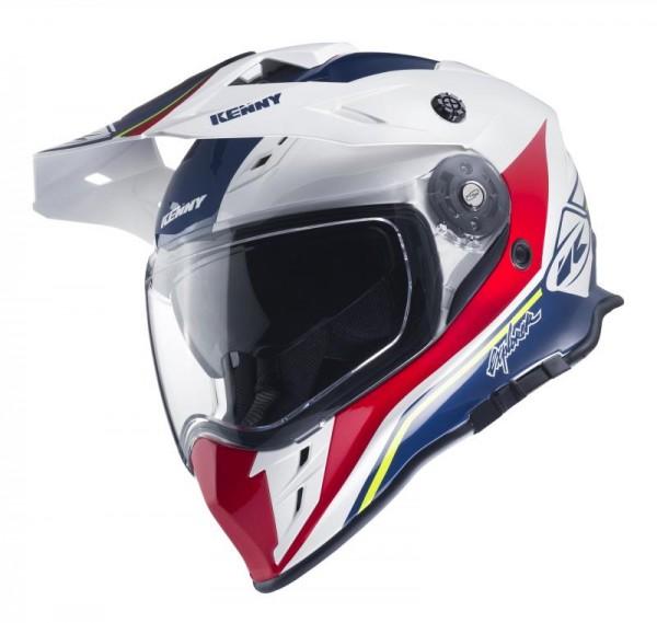 EXPLORER Helm Erwachsene Weiß Blau Rot