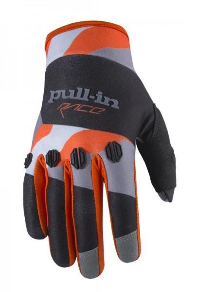 FIGHTER Handschuhe Schwarz Orange Camouflage