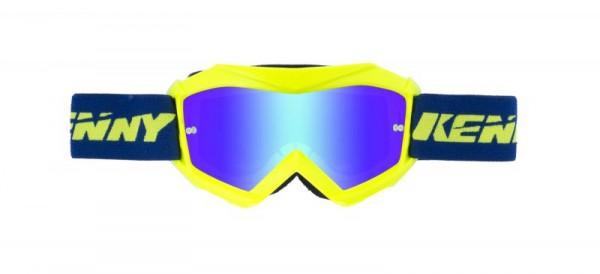 TRACK Brille Kinder Blau Neongelb