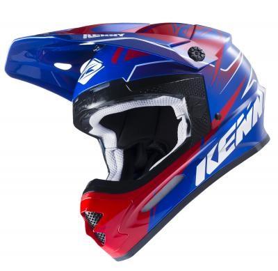 TRACK Helm Erwachsene Blau Rot