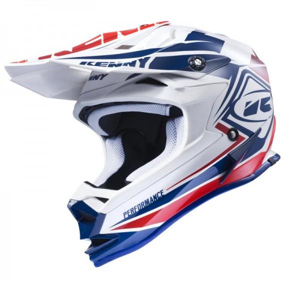 PERFORMANCE Helm Erwachsene Dunkelblau Weiß Rot