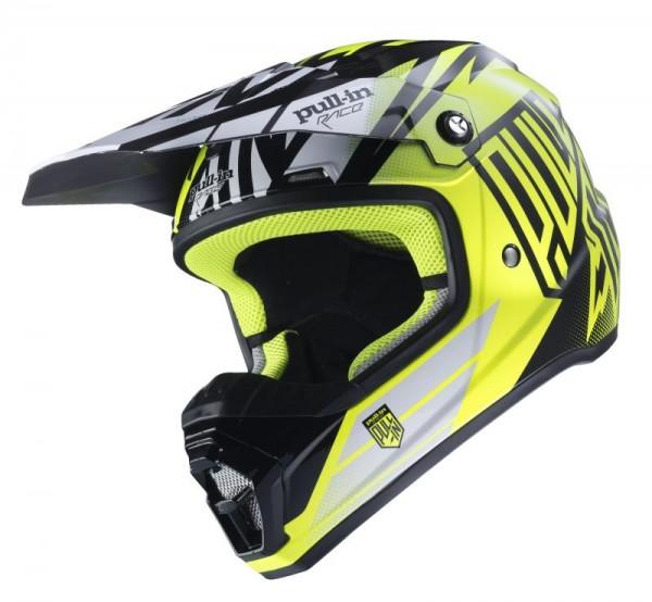 Erwachsene Helm Schwarz Neongelb