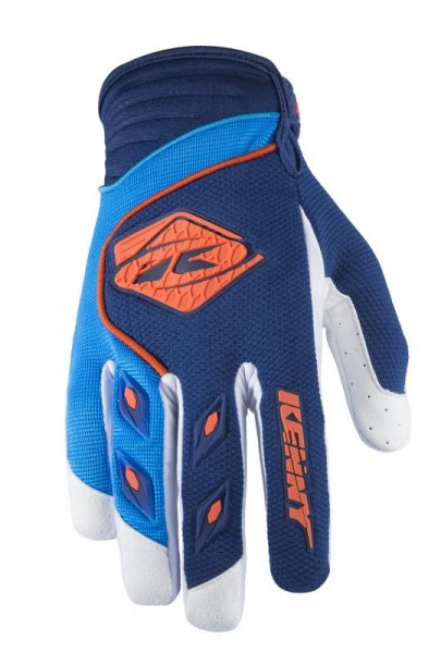 Kinder TRACK Handschuhe Dunkelblau Cyan Orange
