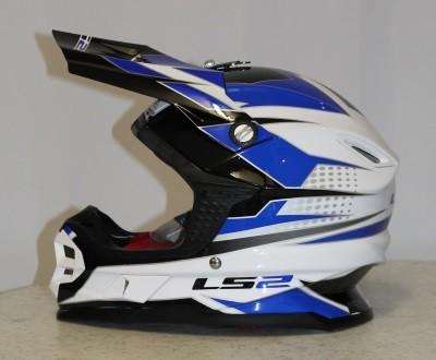 LS2 MX 456 Factory Weiß / Blau M