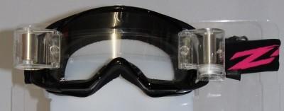 MX Goggle Roll Off / Schwarz / Klar