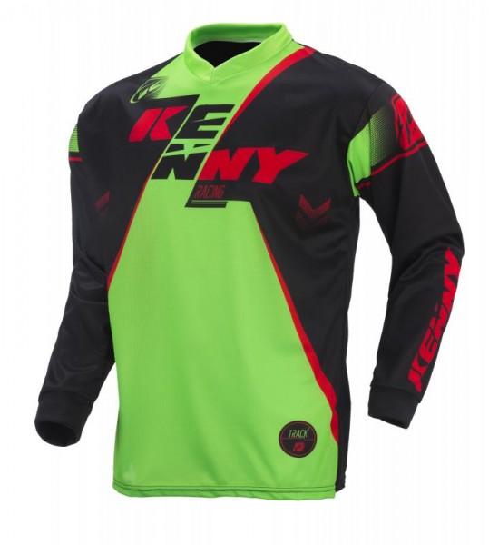 TRACK Shirt Erwachsene Schwarz Grün Rot