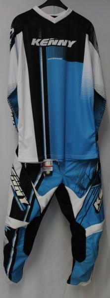 Kenny Performance Combo weiß blau schwarz XL / 36