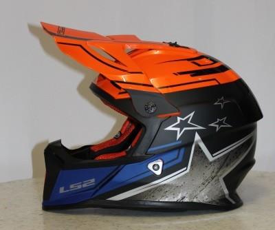 LS2 MX 437 Core Matt Black Gloss Orange