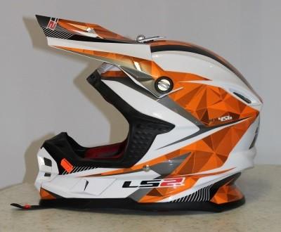 LS2 MX 456 CRAZE Orange S