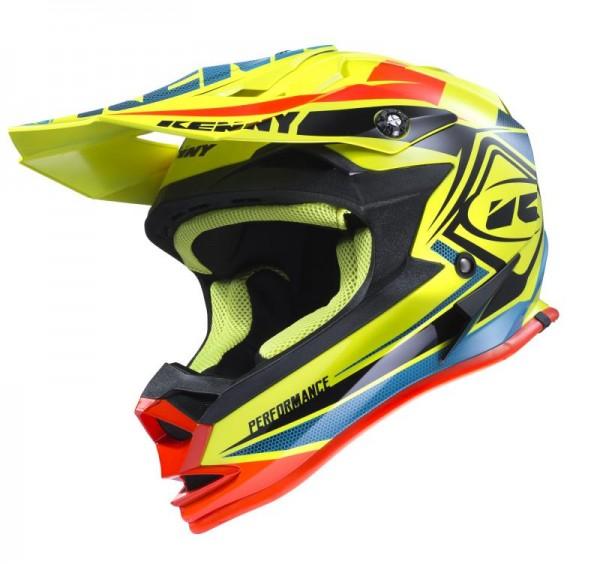 PERFORMANCE Helm Erwachsene Neongelb Blau Orange