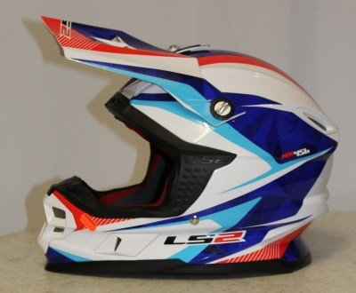 LS2 MX 456 Quartz Blau / Rot / Weiß XL