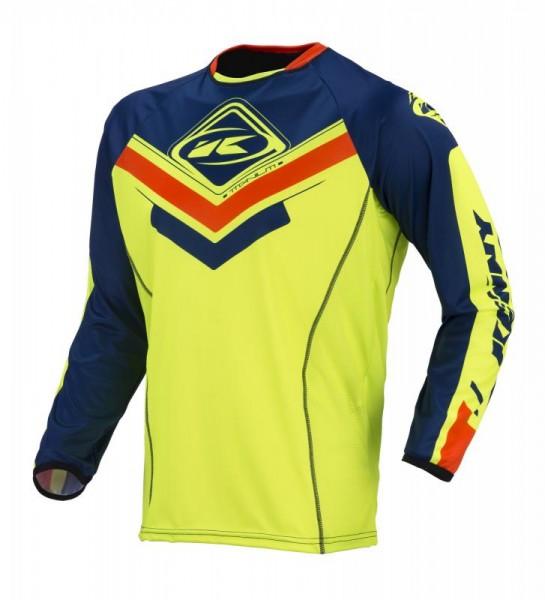 TITANIUM Shirt Erwachsene Dunkelblau Neongelb