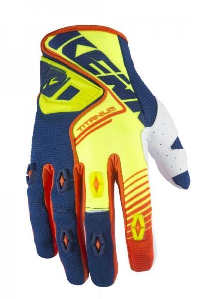 TITANIUM Handschuhe Erwachsene Neongelb Blau