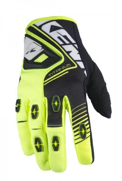 TITANIUM Handschuhe Erwachsene Neongelb Schwarz