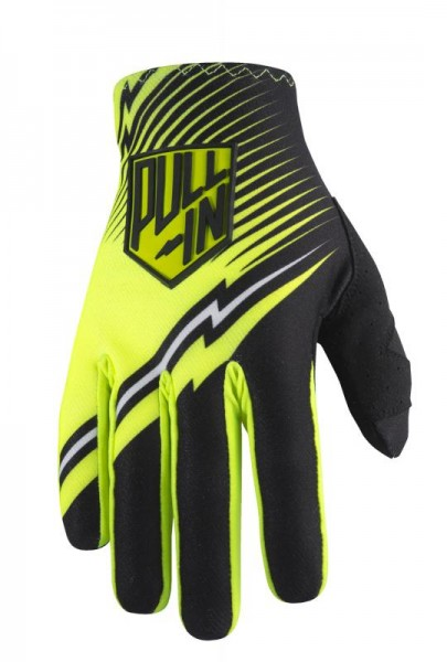 Erwachsene CHALLENGER Handschuhe Schwarz Neongelb