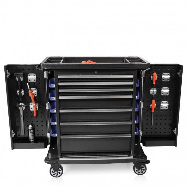Werkzeugwagen Professional Serie Seitenklappen schwarz