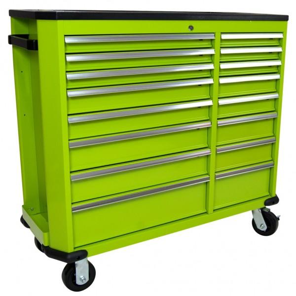 Werkzeugwagen Professional Serie groß 16 Schubladen grün